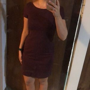 Maroon fitted dress. Scoop in back